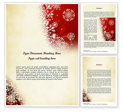Abstract/Textures: Winter Snowflakes Background Word Template #11573