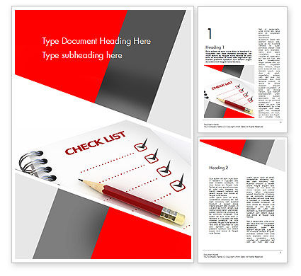 Checklist Word Template, 11574, Education & Training — PoweredTemplate.com