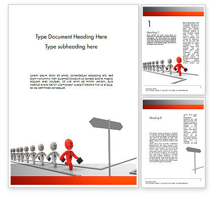 Education & Training: Teamleader Word Template #11576