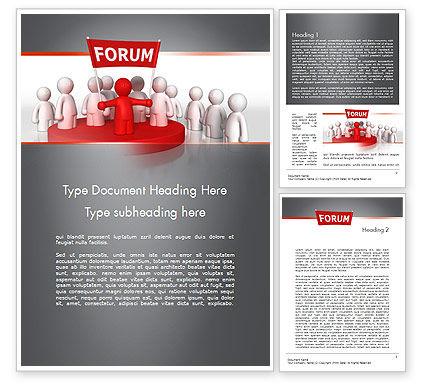 Forum Word Template, 11580, Careers/Industry — PoweredTemplate.com
