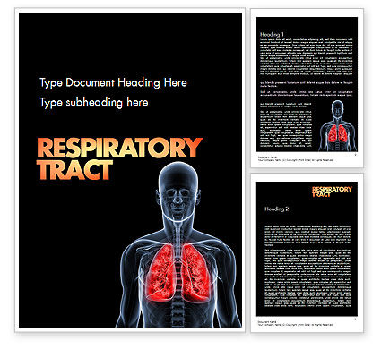 Respiratory Care Word Template, 11586, Medical — PoweredTemplate.com