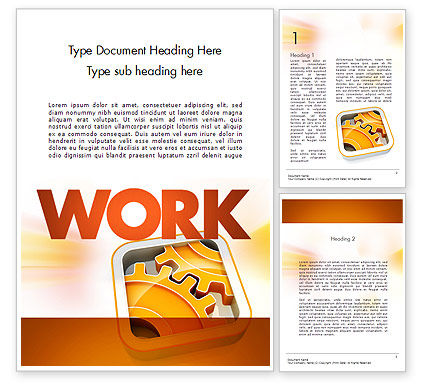 Cogwheel Gears Word Template, 11587, Business Concepts — PoweredTemplate.com