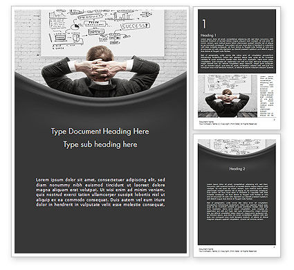 Creativity at Work Word Template, 11588, Business Concepts — PoweredTemplate.com