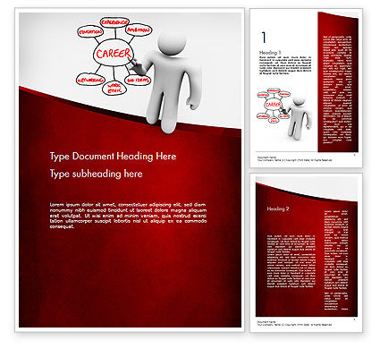 Building Blocks to Successful Career Word Template, 11590, Careers/Industry — PoweredTemplate.com