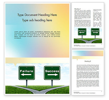 Two Options Word Template, 11591, Business Concepts — PoweredTemplate.com