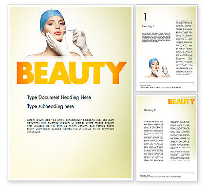 Cosmetic Injection Word Template, 11597, Medical — PoweredTemplate.com