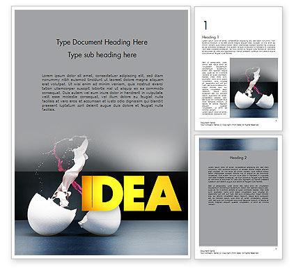 Art & Entertainment: Modelo do Word - splash da cor do ovo quebrado #11599