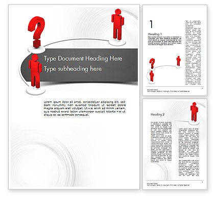 Trying to Communicate Word Template, 11600, Telecommunication — PoweredTemplate.com