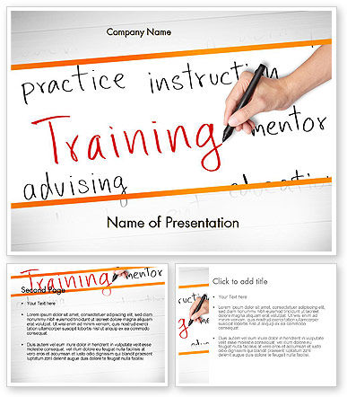 Training Plan PowerPoint Template - PoweredTemplate.com ...