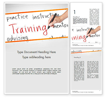 Education & Training: Training Plan Word Template #11607