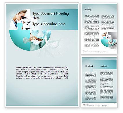 Surgical Technology Word Template, 11613, Medical — PoweredTemplate.com