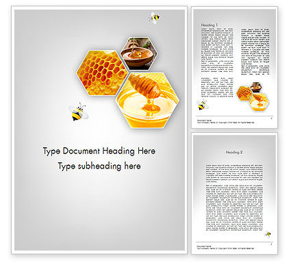 Food & Beverage: Honey Production Word Template #11619