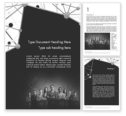Business: Project Team Word Template #11633