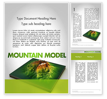 Nature & Environment: Mountain Model Word Template #11636