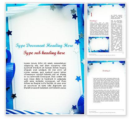Festive Invitation Word Template, 11638, Holiday/Special Occasion — PoweredTemplate.com