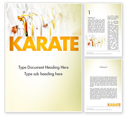 Sports: Martial Arts Training Word Template #11641