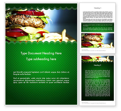 Yummy Food Word Template, 11642, Food & Beverage — PoweredTemplate.com