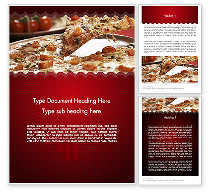 Delicious Pizza Recipes Word Template, 11651, Food & Beverage — PoweredTemplate.com