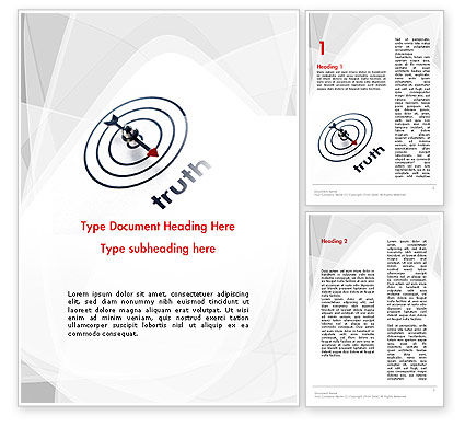 Truth Compass Word Template, 11652, Business Concepts — PoweredTemplate.com
