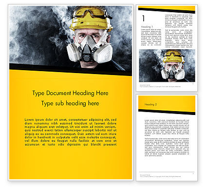 Respiratory Protection Word Template, 11655, Careers/Industry — PoweredTemplate.com