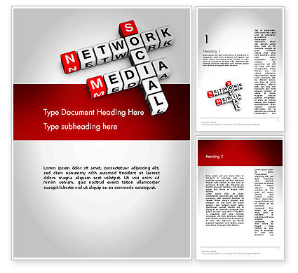 Social Media Network Crossword Word Template
