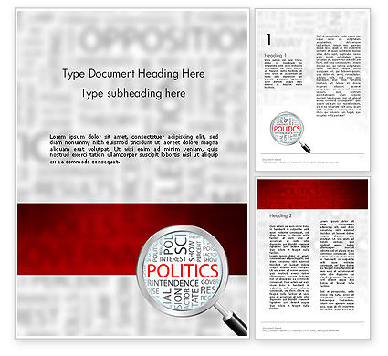Politics Word Template, 11664, General — PoweredTemplate.com
