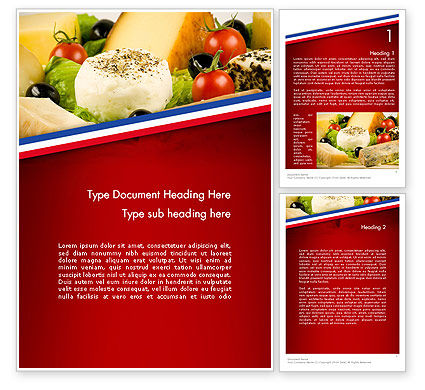 Food & Beverage: French Cuisine Word Template #11665
