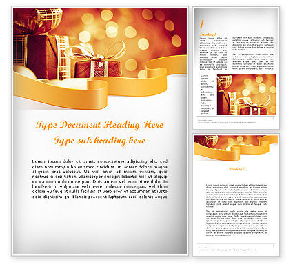 Holiday/Special Occasion: Happy Christmas Word Template #11666