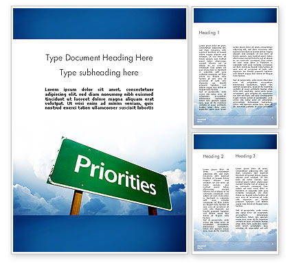 Business Priorities Word Template, 11671, Business Concepts — PoweredTemplate.com