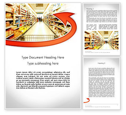 Careers/Industry: Grocery Shopping Word Template #11673