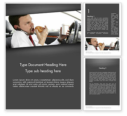 Cars/Transportation: Distracted Driving Word Template #11674