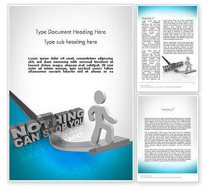Nothing Can Stop You Word Template, 11684, Business Concepts — PoweredTemplate.com