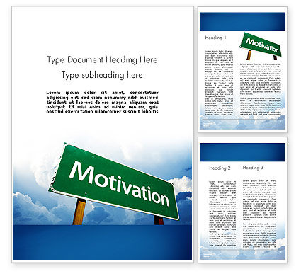 Education & Training: Motivation Sign Word Template #11691