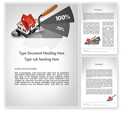 3D: Home Report Word Template #11692