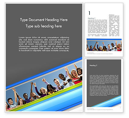 Positive Youth Word Template, 11700, People — PoweredTemplate.com