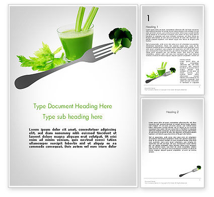Food & Beverage: Green Nutrition Drink Word Template #11702