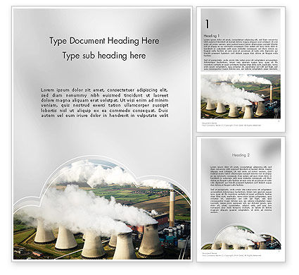 Generating Plant Word Template, 11703, Utilities/Industrial — PoweredTemplate.com