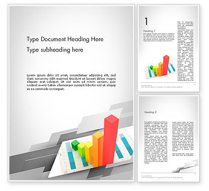 Designing Data Visualization Word Template, 11711, Business Concepts — PoweredTemplate.com
