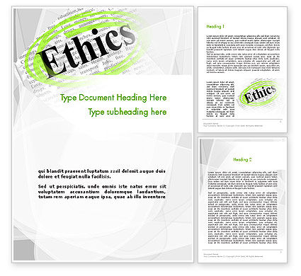 Code of Ethics Word Template, 11713, Business Concepts — PoweredTemplate.com