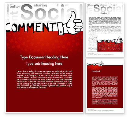 Careers/Industry: Social Commentary Word Template #11724