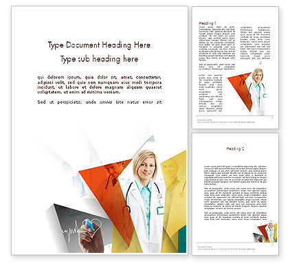 Medical Team Word Template, 11731, Medical — PoweredTemplate.com