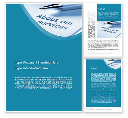 Our Services Word Template, 11755, Business Concepts — PoweredTemplate.com