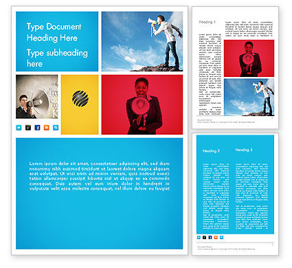 PR Company Presentation Word Template