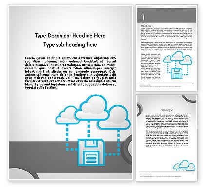 Cloud Storage Word Template, 11764, Technology, Science & Computers — PoweredTemplate.com