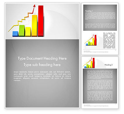 Success Bar Chart Word Template, 11767, Business Concepts — PoweredTemplate.com