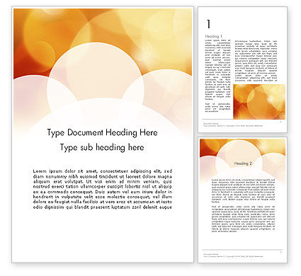 Abstract/Textures: Yellow Sparkle Background Word Template #11775