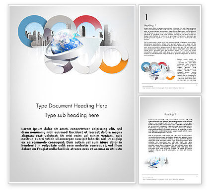 Corporate Presentation Word Template, 11781, Business — PoweredTemplate.com