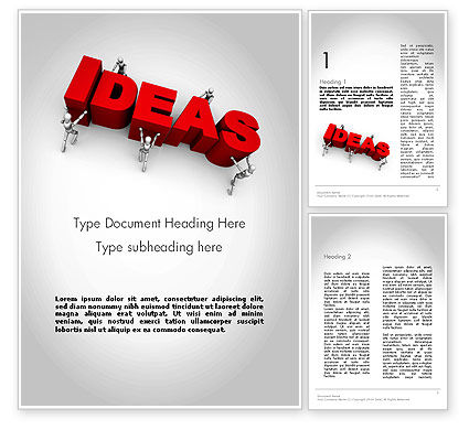 Pushing Ideas Word Template, 11785, Business Concepts — PoweredTemplate.com
