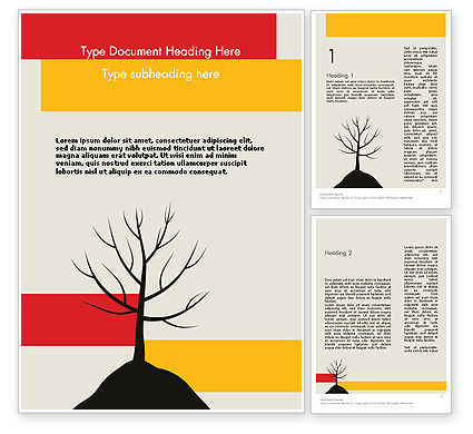 Nature & Environment: Deciduous Tree In Winter Word Template #11786