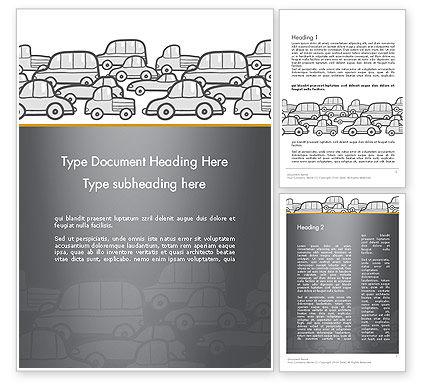 Cars/Transportation: Templat Word Lalu Lintas #11794
